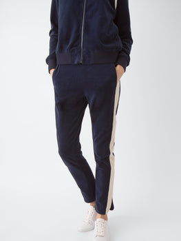 Side Stripe Velour Pull on Pant