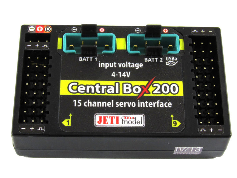 Jeti Central Box 200 Power Distribution Unit w/Magnetic Switch