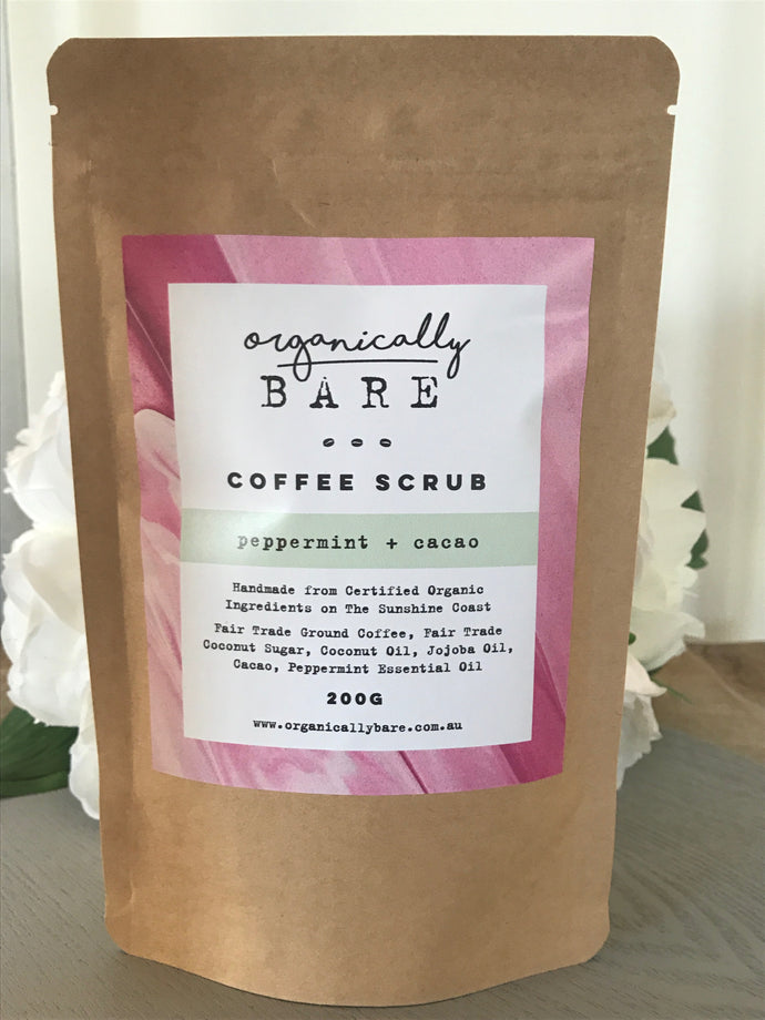 Peppermint & Cacao Coffee Scrub 220g