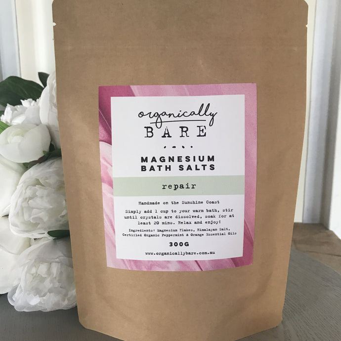 Peppermint & Orange Magnesium Bath Salts 400g Repair