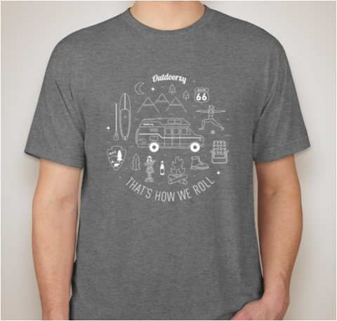 That's How We Roll: Van | Short Sleeve T-Shirt - Grey