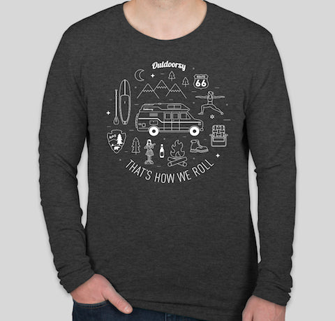 That's How We Roll: Van | Long Sleeve T-Shirt - Charcoal