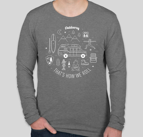 That's How We Roll: Van | Long Sleeve T-Shirt - Grey