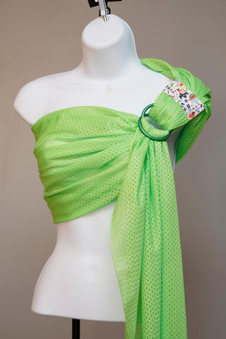 Mercy Baby Boutique Mesh Sport/Water Ring Sling - Lime Green