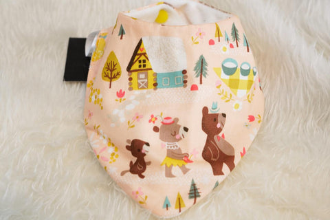 Picket Fence Creations Bib - Goldilocks and the Three Bears
