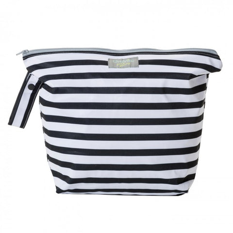 GroVia Zippered Wet Bag - Onyx Stripe