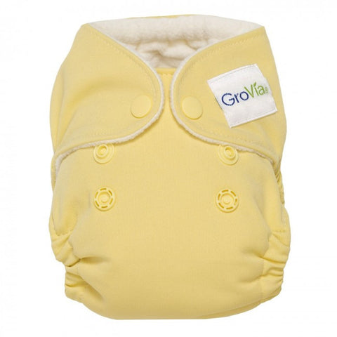 GroVia Newborn All In One Diaper - Chiffon