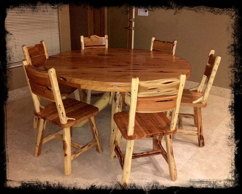 5' Round Cedar Dining Table