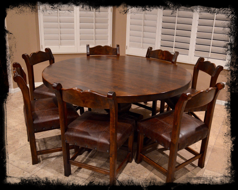 5' Round Alder Dining Table