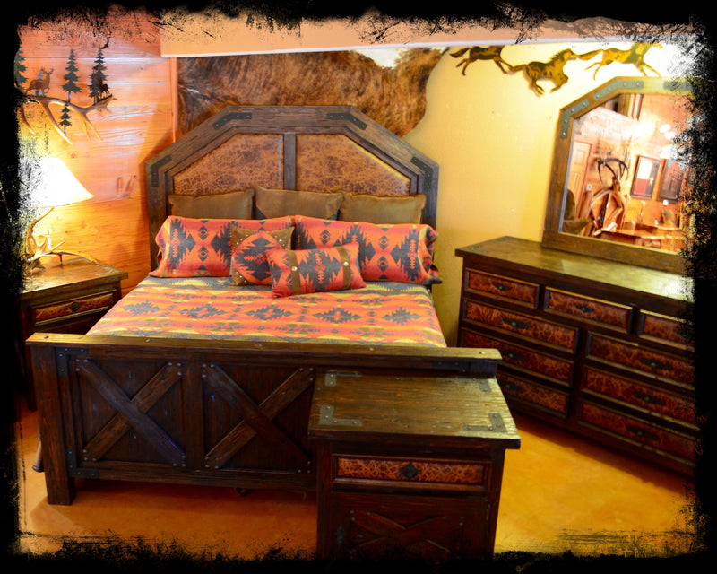 King Alder Barn Wood Bed Set