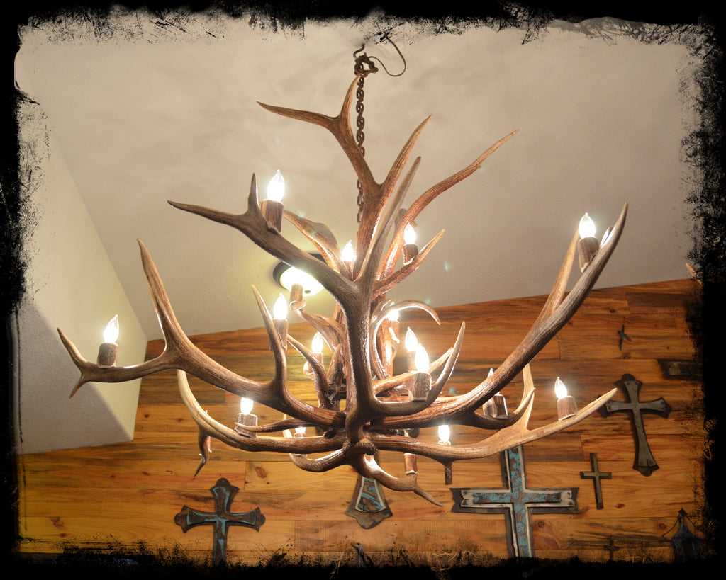 3' Genuine Antler Chandelier