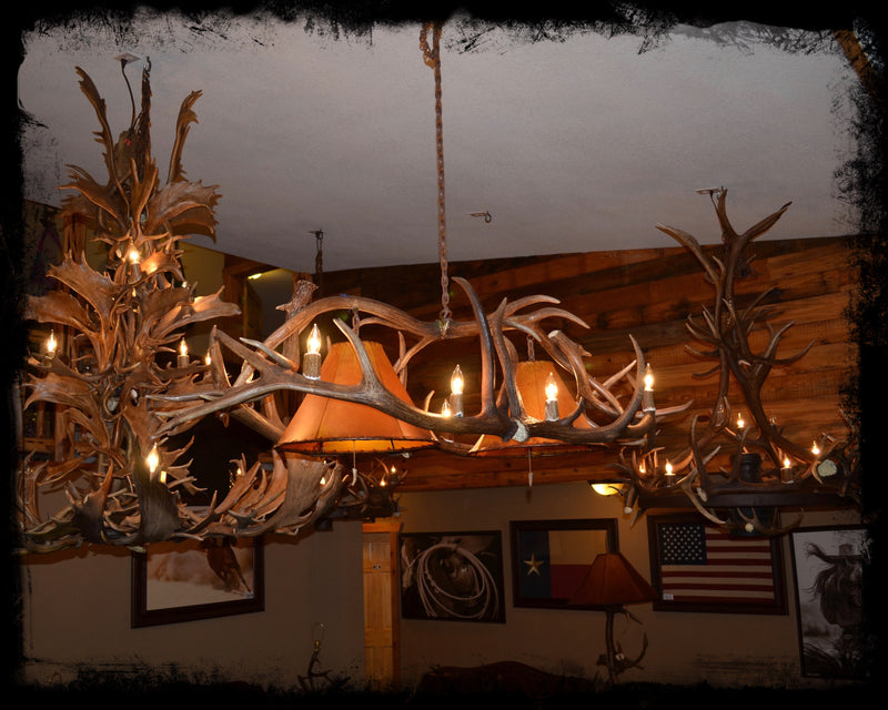 "64"" Genuine Antler Chandelier"