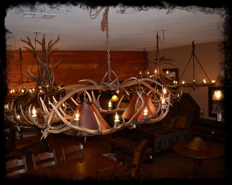 6' Genuine Antler Chandelier