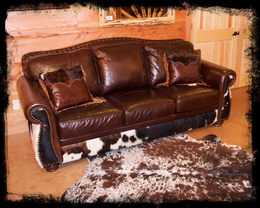Genuine Leather Sleeper Sofa