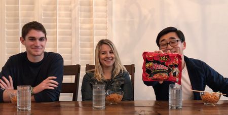 KPOP does the Spicy Ramen Challenge