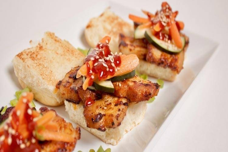 Korean BBQ Pork Belly Sliders