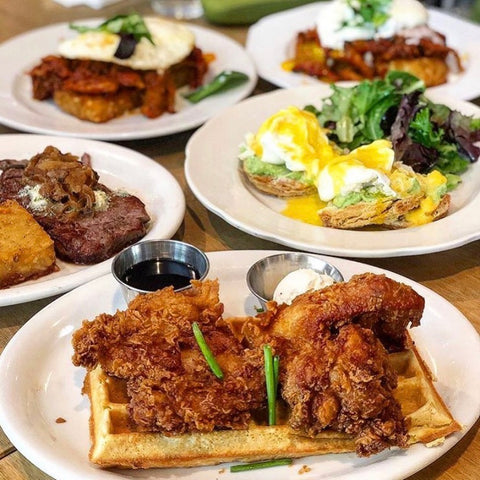 Eggs benedict, chicken and waffles, french toast, and more!