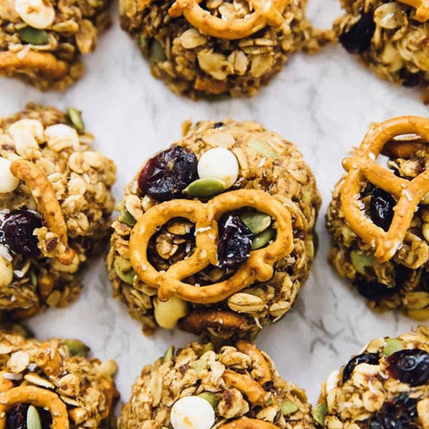 Protein packed trail mix cookies!