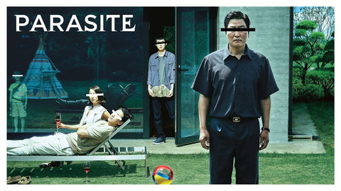 Ominous movie poster of Parasite