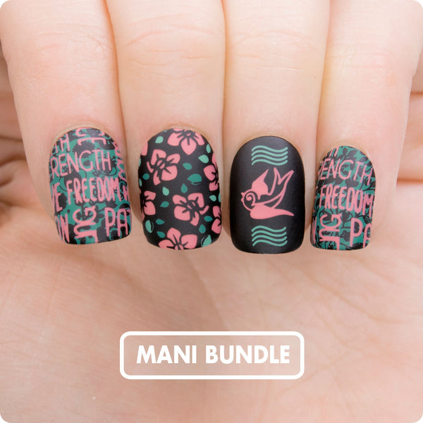 Mani Bundle - Graphic Flowers