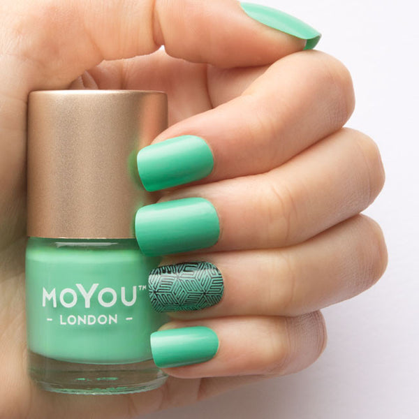 Stamping Nail Polish - Turquoise Mint