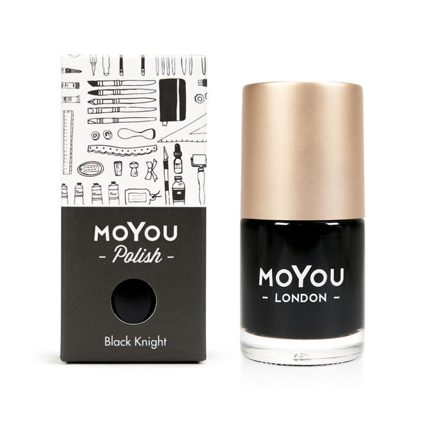 Stamping Nail Polish - Black Knight 15ml