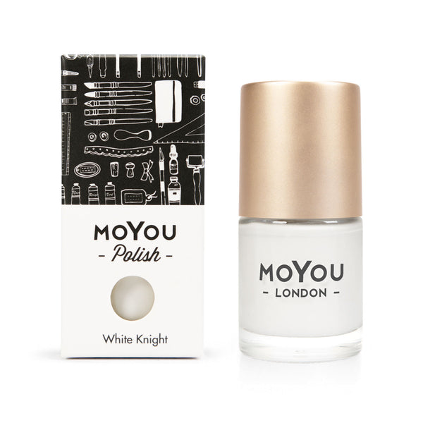 Stamping Nail Polish - White Knight 15ml