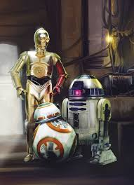 Star Wars Fototapete Three Droids