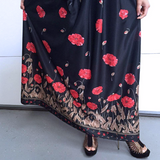 Vintage Floral Poppy Print Maxi Dress With Matching Fabric Belt Bleeker Street