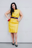 Vintage 1960's Yellow Sheath Dress