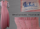 Pink Chiffon Evening Gown With Jeweled Waist Mike Benet Formals