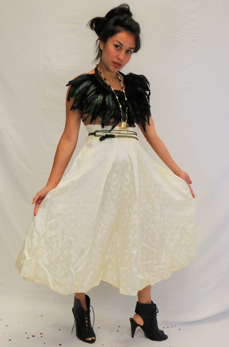 Vintage late 70's - early 80's  Sequin Beaded Top and Skirt Judith Ann Creations