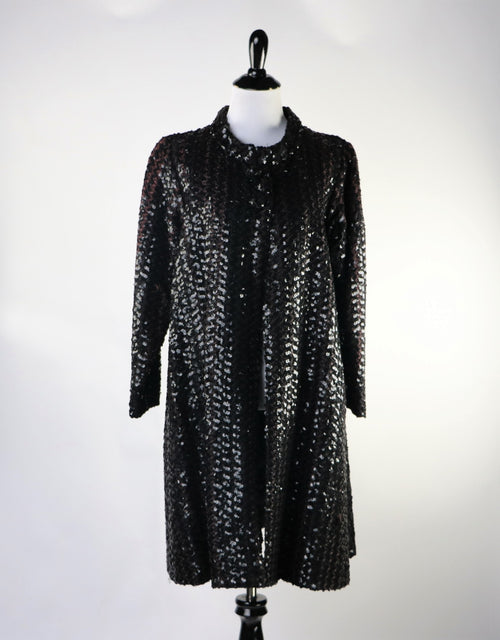 Vintage 60's Black Sequin A Line Jacket