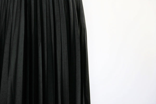 Vintage Black Pleated Skirt - Made In Italy