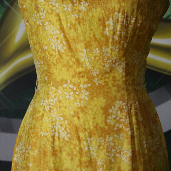 Yellow Brick Road: Vintage Yellow Floral 1960's Sheath Dress