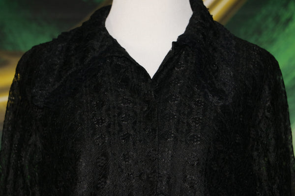 Wicked: Vintage Black Lace Blouse