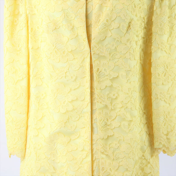 Vintage 1960's Yellow Lace Dress and Jacket Set