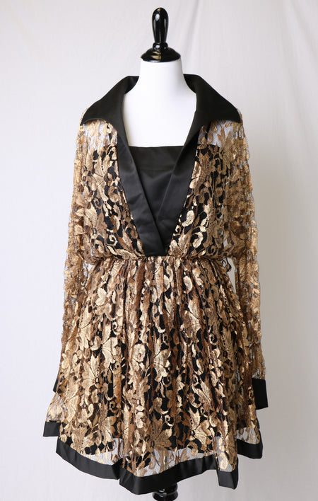 Chiffon Earth Tone Tie Dye Printed Spencer Alexis Dress with Adjustable Matching Belt
