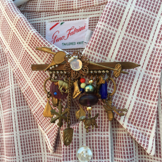 Vintage Sports/Recreation Theme Charm Brooch