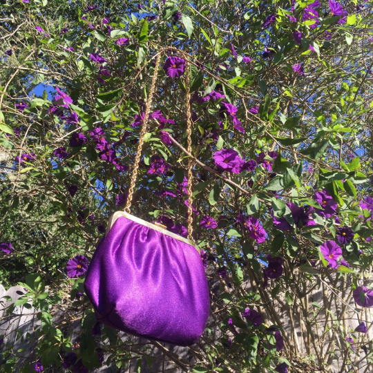 1950's Jewel Tone Purple Evening Bag