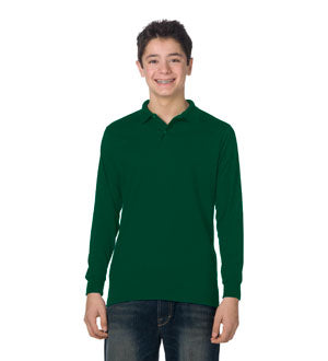 Holy Rosary Green LONG SLEEVE School Uniform Shirt - with Embroidered Logo