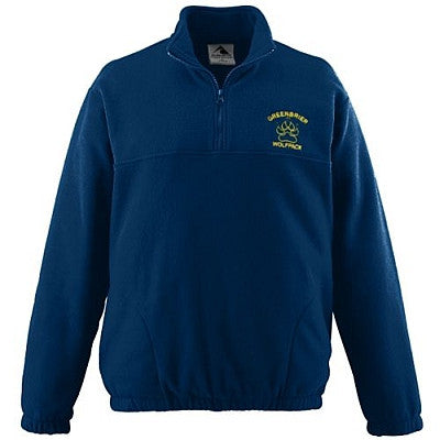 Holy Rosary Half Zip Fleece - Navy with Embroidered Logo