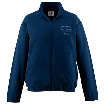 Holy Rosary Full Zip Fleece - Navy with Embroidered Logo