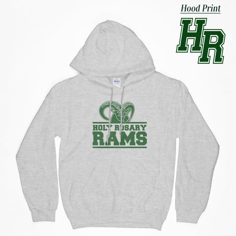 Holy Rosary LOGO B - Gray Hooded Sweatshirt