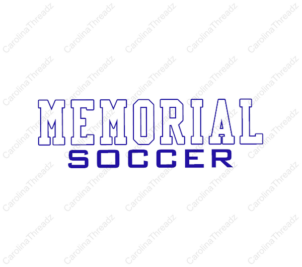 Memorial Tiger Soccer - Short Sleeve Wicking Practice Shirt