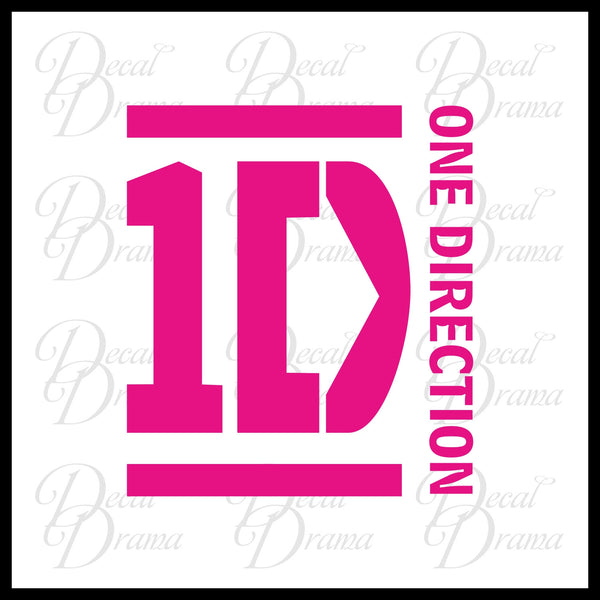 1D One Direction-inspired Fan-Art Vinyl Wall Decal