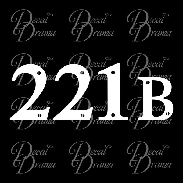 221B Baker Street, BBC's Sherlock-inspired Fan Art Vinyl Car/Laptop Decal