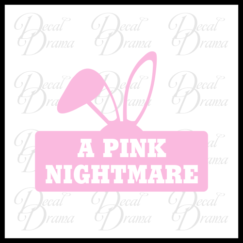 A Pink Nightmare, A Christmas Story-inspired Fan Art Vinyl Car/Laptop Decal
