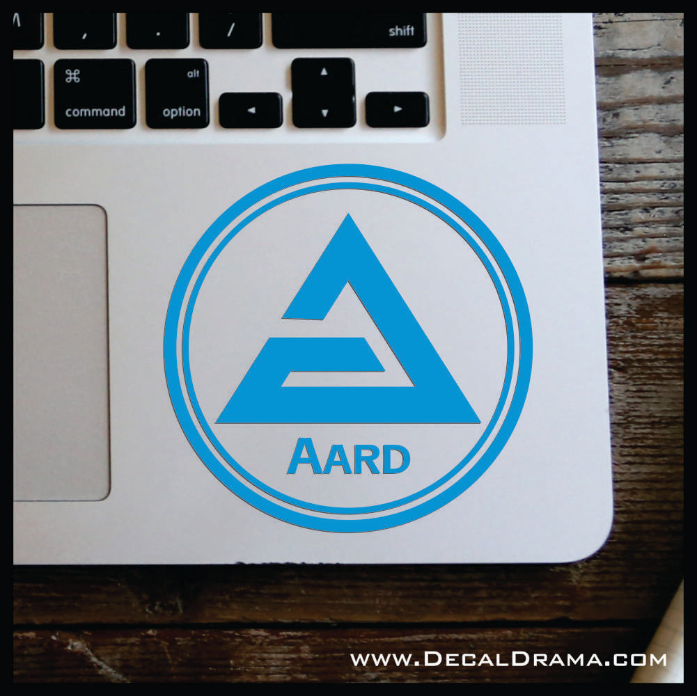 Aard sign glyph, The Witcher-inspired Car/Laptop Decal