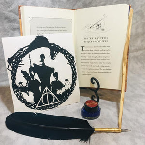 Admiring Death's Gifts, vinyl decal inspired by The Tales of Beedle the Bard by JK Rowling